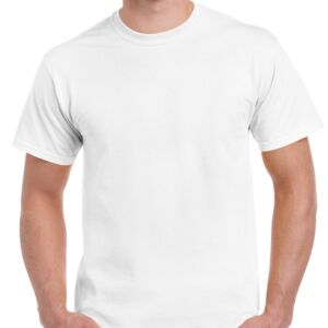 Gildan Ultra Cotton White Tee 205GM Thumbnail