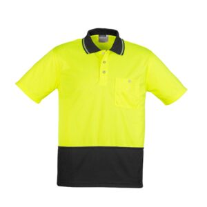 Unisex Hi Vis Basic Spliced Polo Short Sleeve | Syzmik Thumbnail