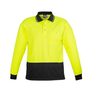 Unisex Hi Vis Basic Spliced Polo Long Sleeve | Syzmik Thumbnail